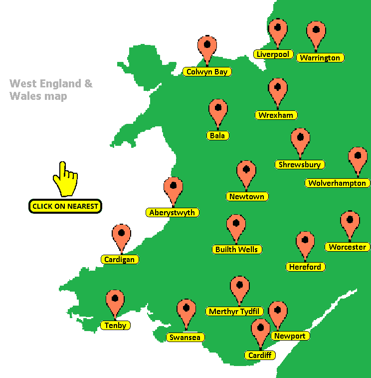 map of wales uk image